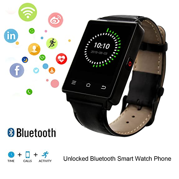Amazon.com: No.1 D6 Smart Watch Unlocked Cell Phone 3G WIFI ...