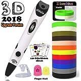 3D Stift Set für Kinder mit PLA Filament 12 Farben - 3D Stifte mit PLA Farben 120 Fuß und 250 Schablonen eBook, 3D Pen als kreatives Geschenk für Erwachsene, Bastler zu basteln, Malen und 3D drücken