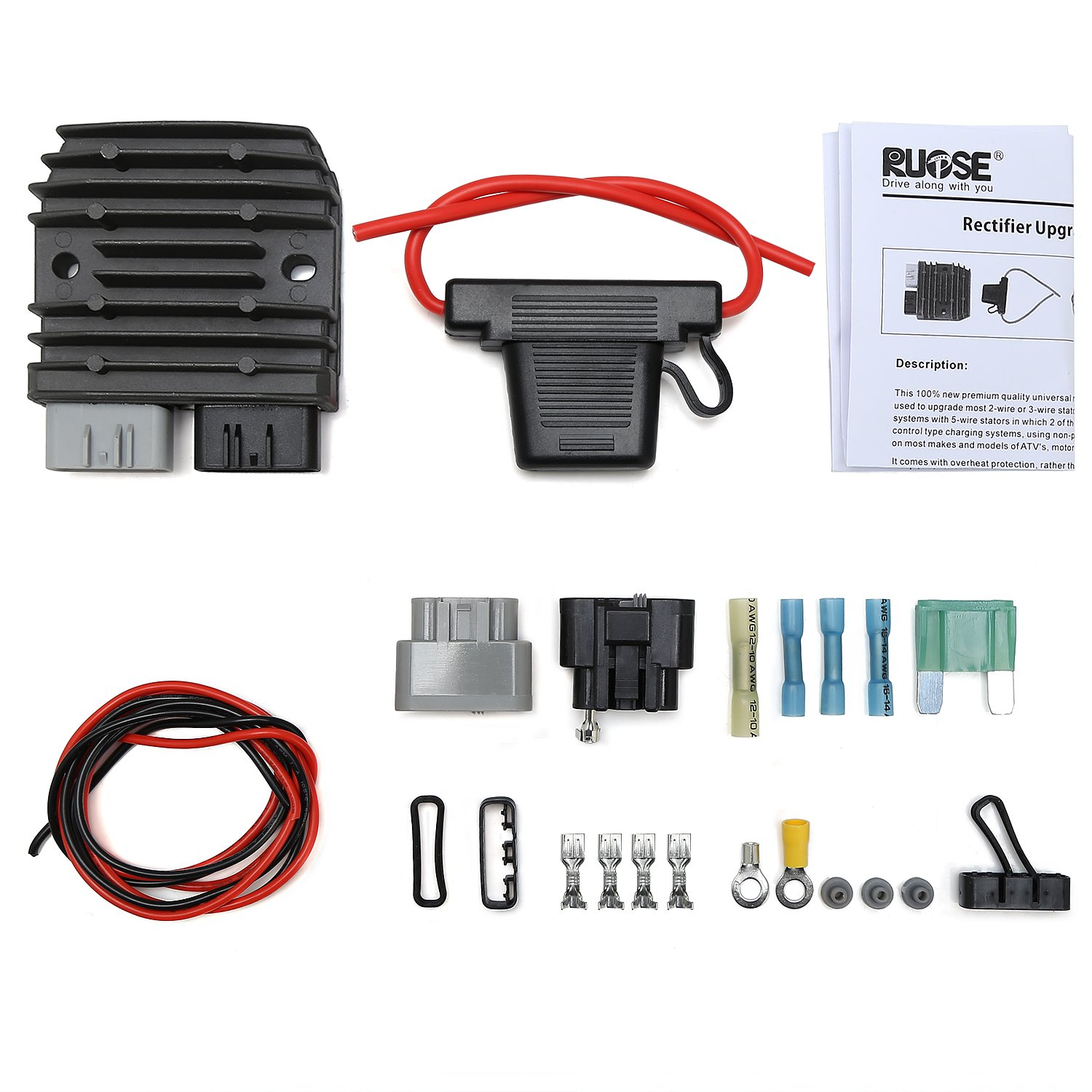 Amazon.com: Rupse FH020AA FH012AA Mosfet Regulator Rectifier Kit for ...