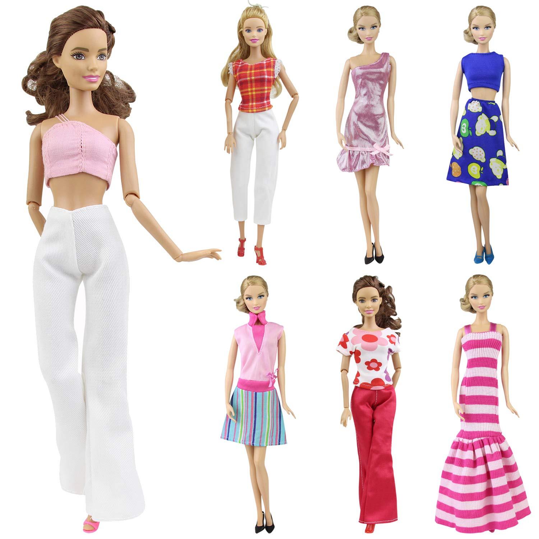 Amazon.es: ZITA ELEMENT Ropa Barbie 10 Piezas Ropa y Zapatos=5 Sets Vestidos Largo Corto +5 Zapatos para 11, 5 Pulgadas / 28-30cm Barbie Muñeca: Juguetes ...