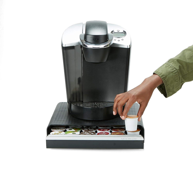 K-Cup Dolce Gusto CBTL Verismo Black Mind Reader HERO36-BLK Hero Coffee Pod Drawer Storage One Size