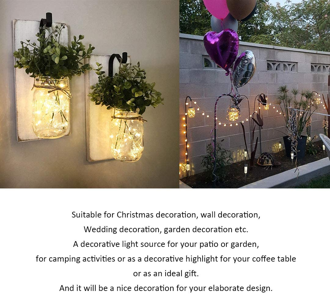 Garden Accessories Solar Garden Lights Outdoor Toys Solar Fairy Lights Outdoor Waterproof Garden Lights Solar Powered Fairy Lights Outdoor Lights Outside Lights Decorations Christmas Pathway Lighting