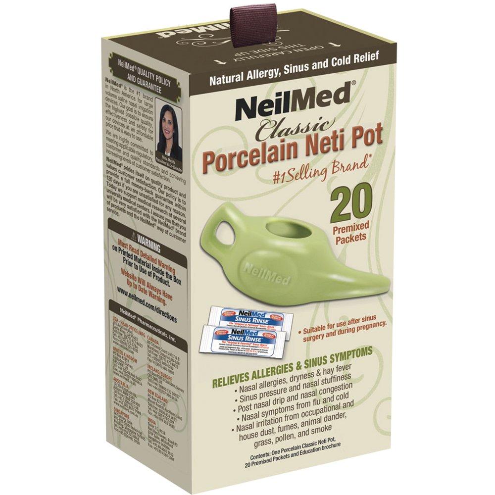 Neilmed Classic Porcelain Neti Pot, Green, 8 Ounce Neilmed Pharmaceuticals Inc. NF8P