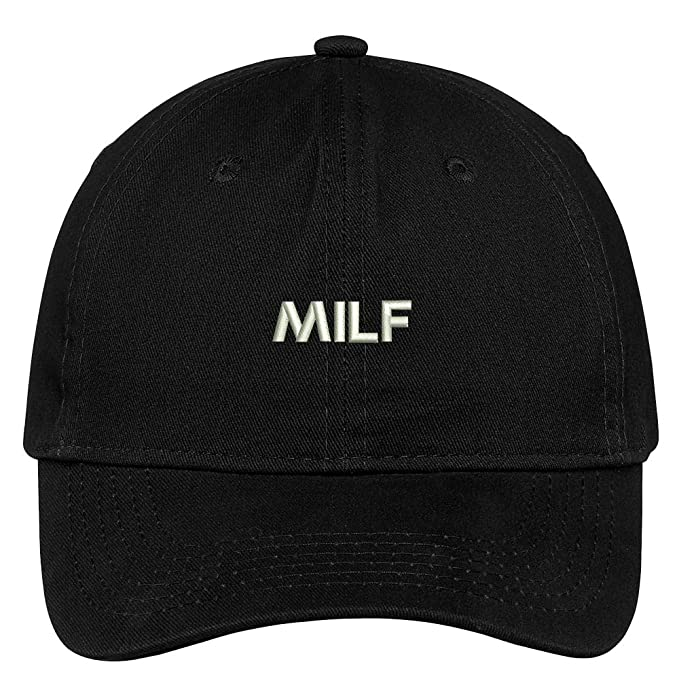 5ce7ea7b606 Trendy Apparel Shop Milf Embroidered Soft Cotton Low Profile Dad Hat  Baseball Cap - Black