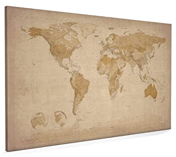 Map of the world antique style canvas art print 22x34 inch a1 map of the world antique style canvas art print 22x34 inch a1 sciox Images