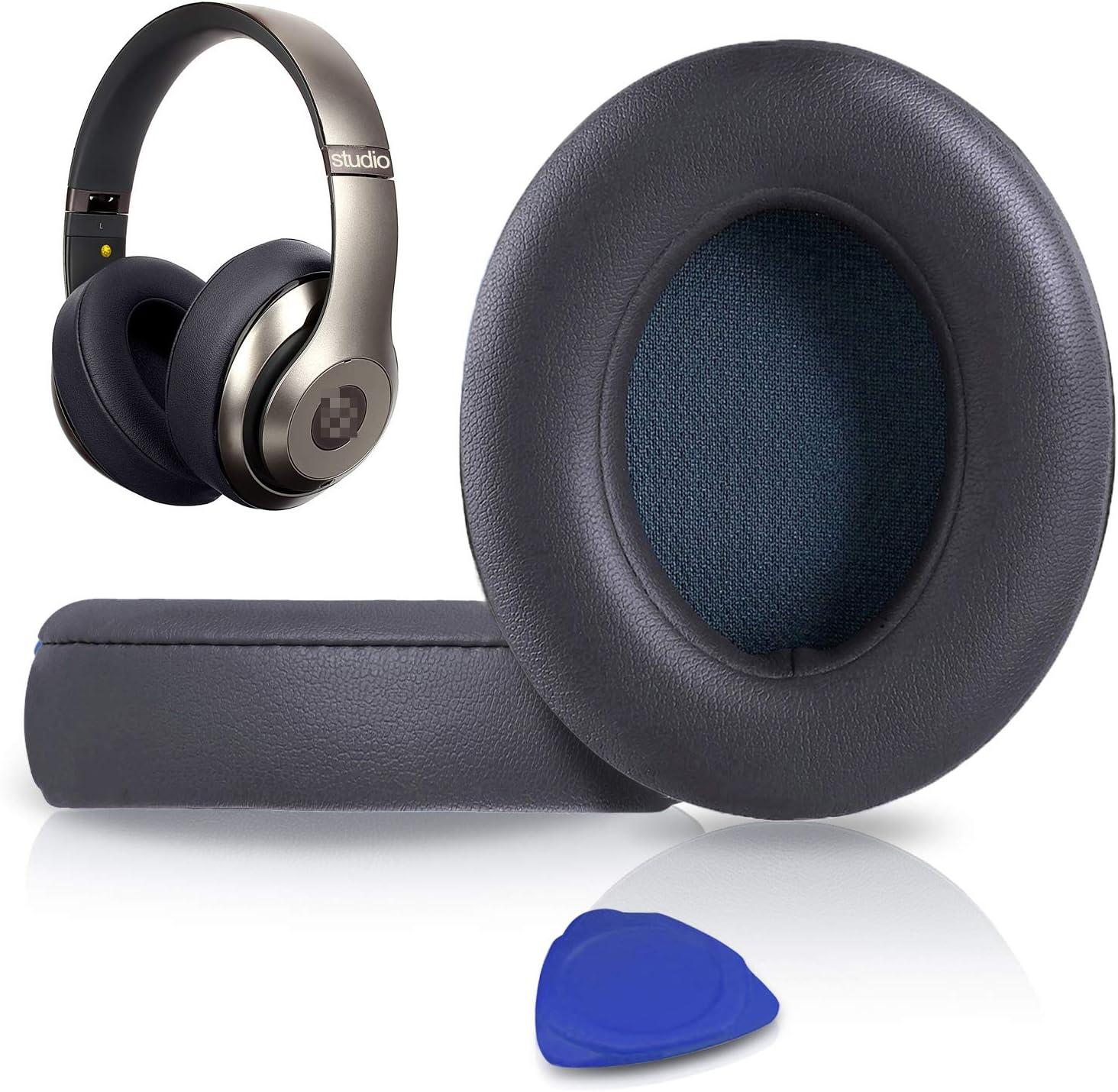 SoloWIT® Almohadillas de Repuesto para Beats Studio 3 y 2 Wireless Wired Auriculares Over-Ear, con Cuero de proteína Suave/Espuma de Memoria de ...