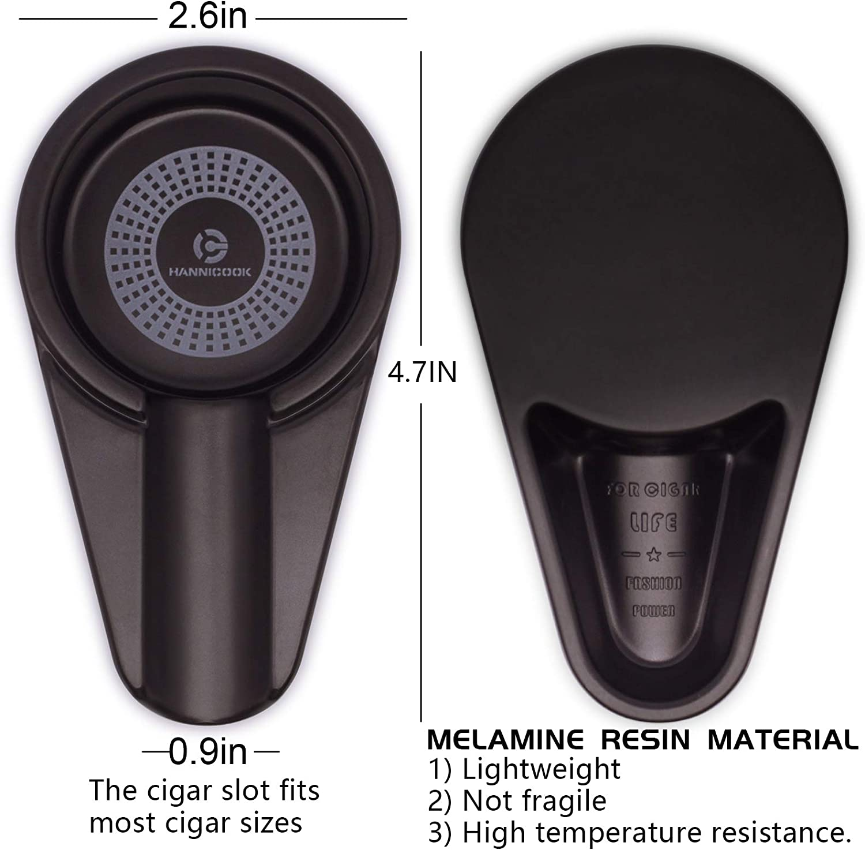 Black Portable Cigar Ashtray Outdoor Indoor Cigarrette Ashtray for Patio Durable Melamine Ash Trays