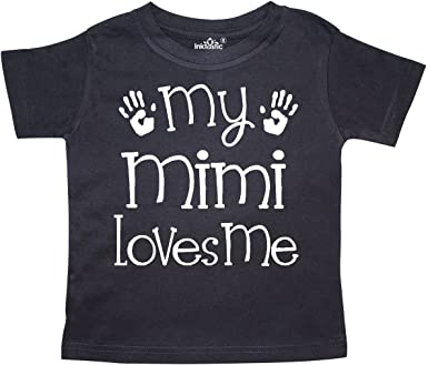 inktastic Mimi Loves Me Granddaughter Gift Toddler T-Shirt