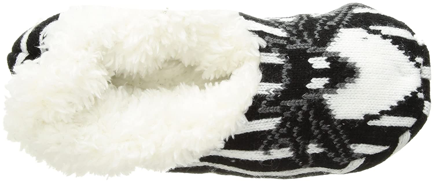 Disney womens standard Nightmare Before Christmas Slipper Sock Black/White Stripe 880353