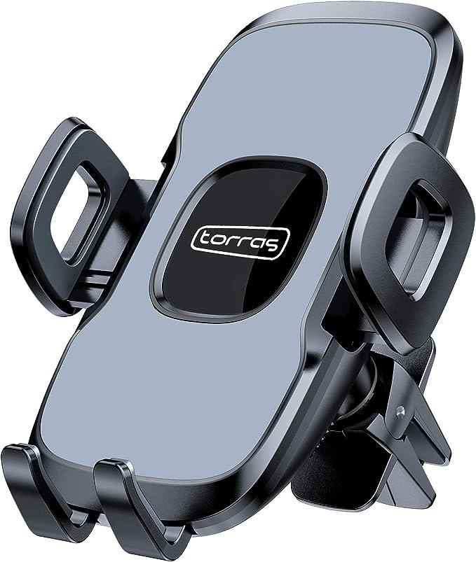 Torras Handyhalterung Auto Kfz Handy Halterung Autohalterung Vent Handyhalter Universal 360 Grad Drehung Autozubehör Lüftung Halter Fürs Smartphone Grau Elektronik