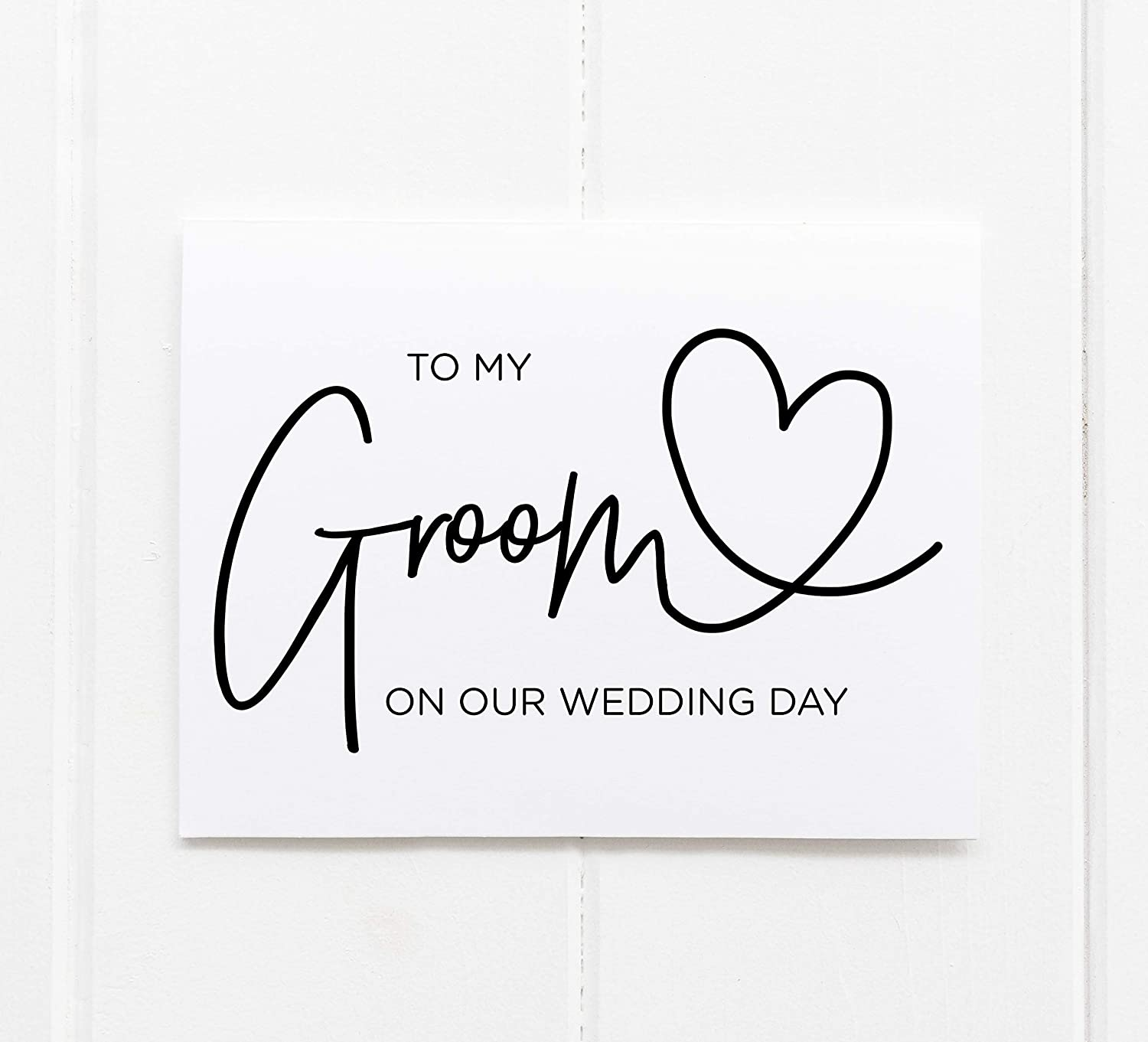 Groom Card Groom Gift To My Groom on Our Wedding Day Card Gift from Bride