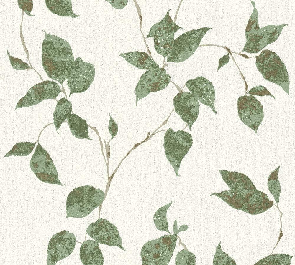 Cr/éation 366874 36687-4 Flavour Papier peint intiss/é Motif floral Vert//blanc m/étallis/é 10,05 m x 0,53 m A.S