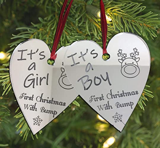 pregnacy nursery gift engraved christmas bauble tree decoration xmas pregnancy engraved gifts ideas our