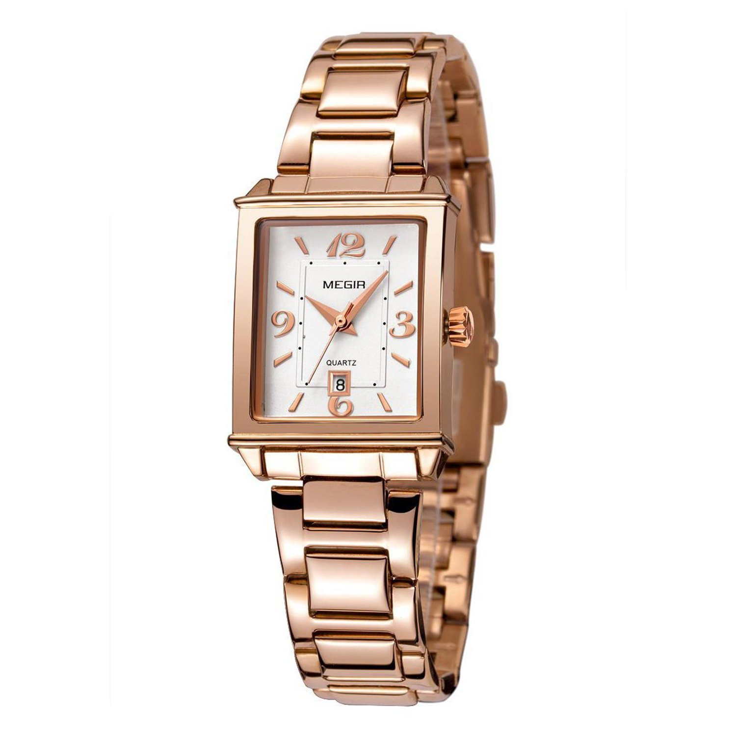 Amazon Com Tayhot Womens Rectangle Rose Gold Watch Lady Stainless