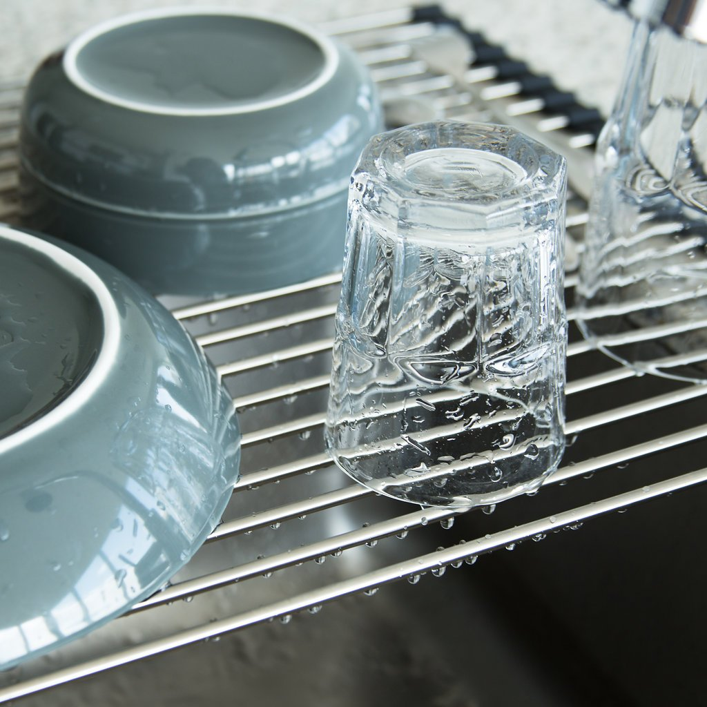 Amazon.com - UpGood Stainless Steel Over the Sink Dish Drying Rack ...