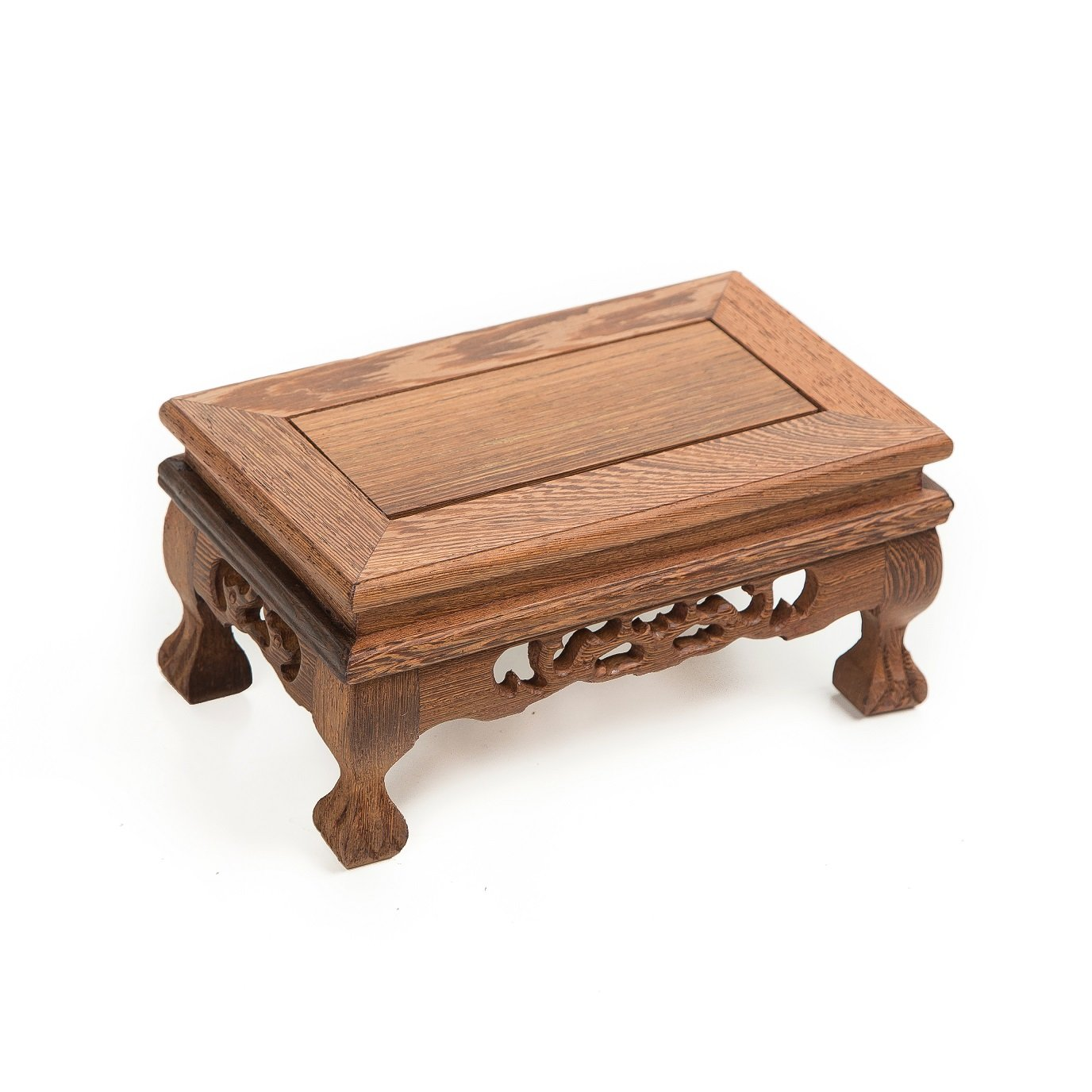 LuoLuo Chinese Display Stand Wooden Rectangle Shape Tiger Feet Carved Solid Rosewood JiChi Wood Display Base Holder For Arts Antique Etc, Home Decoration (S 18.5cm11cm9cm) by LuoLuo (Image #3)