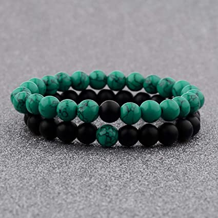 Mens//Ladies Turquoise Bracelet   Friendship Natural Stone Surfer Style