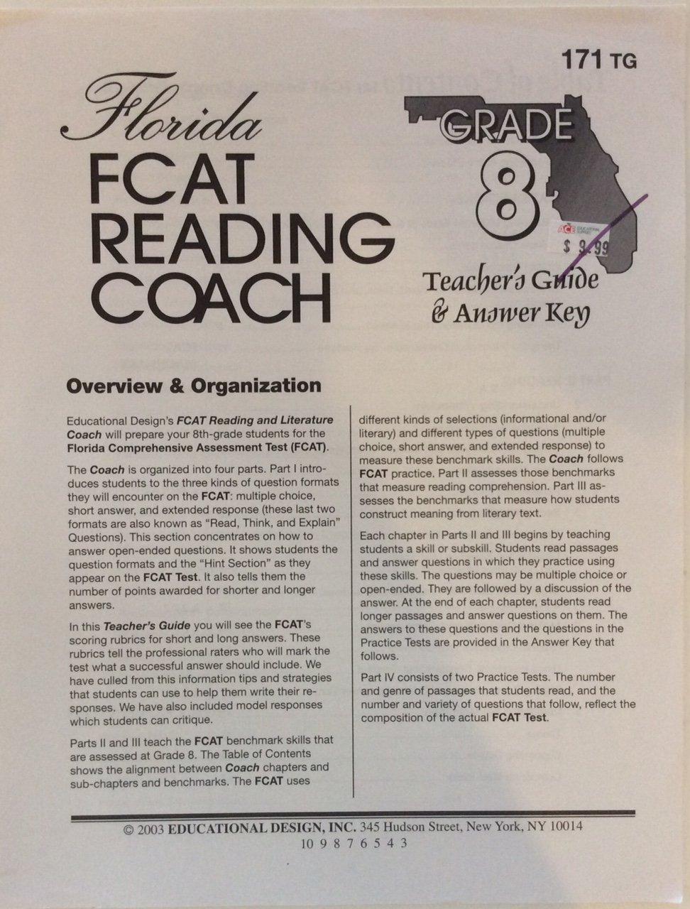 Reading Grade 8 Florida FCAT Coach ebook