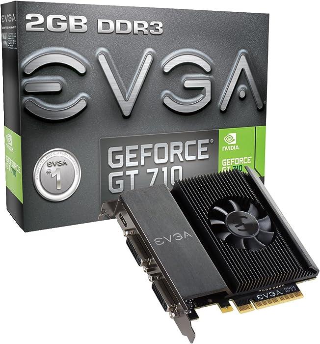 EVGA GT 710 2GB DDR3 64bit Single Slot, Dual DVI 02G-P3-2717-KR
