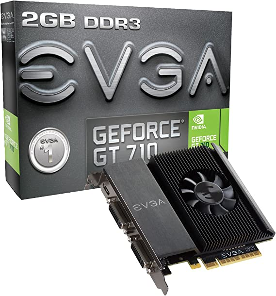 EVGA GT 710 2GB DDR3 64bit Single Slot