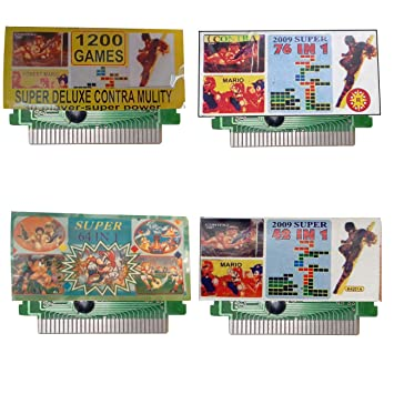 PTCMART 8 Bit Tv Video Game Cassette Like 1200-in1,64-in1,76-in1,42-in1 Mix Game