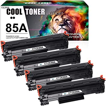 Amazon.com: Cool Toner Compatible Toner Cartridge Replacement for HP 85A  CE285A P1102w for HP LaserJet Pro P1102w M1212nf P1109w M1217nfw P1102  P1100 M1132 M1210 P1102w Toner Cartridge Printer Ink (Black, 4-Pack): Office