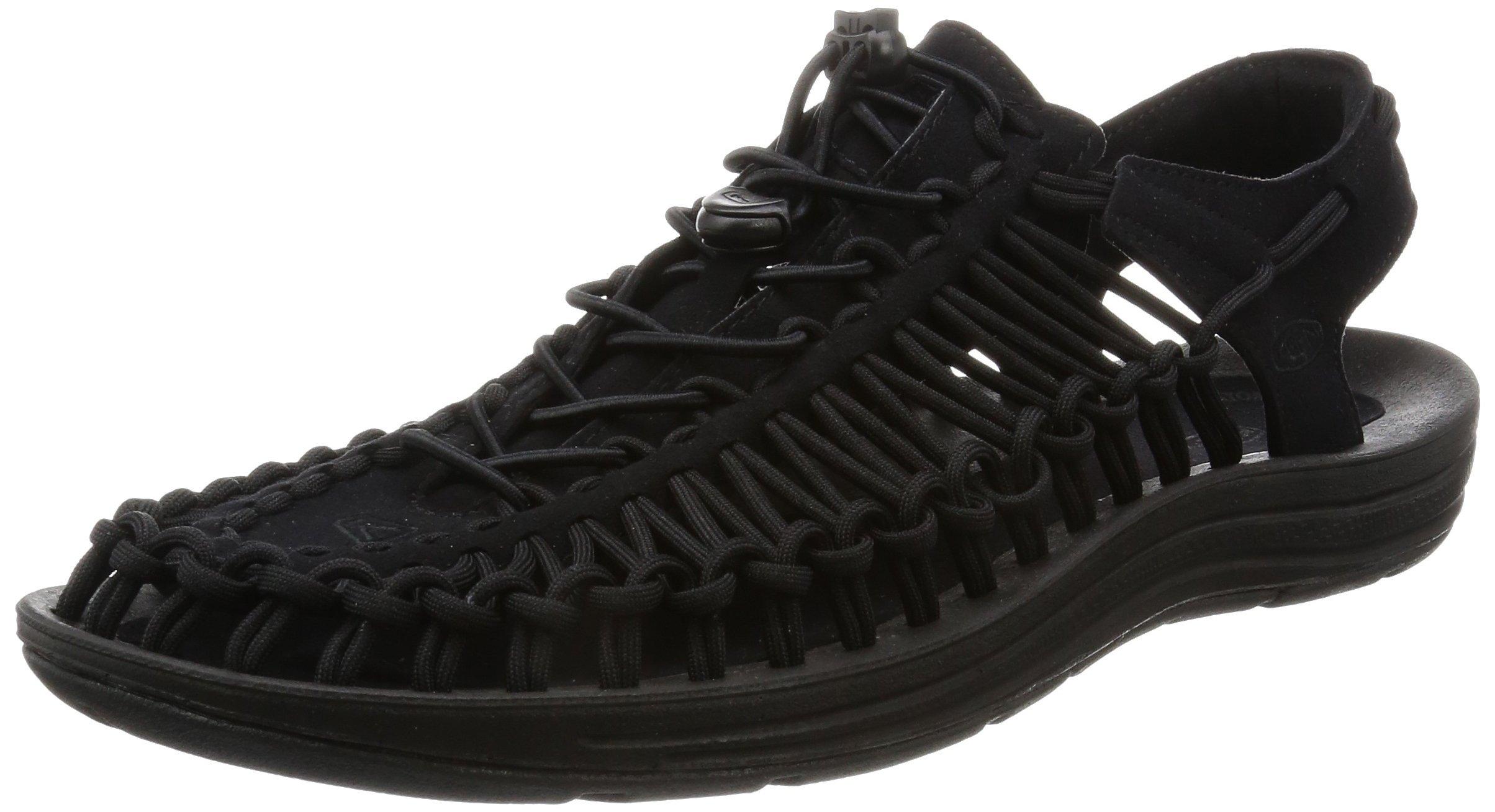 KEEN Men's Uneek Sandal, Black/Black, 14 M US