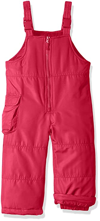 London Fog Girls' Little Classic Snow Bib Ski Snowsuit, Fusion Pink, 6X best girls' snowsuits