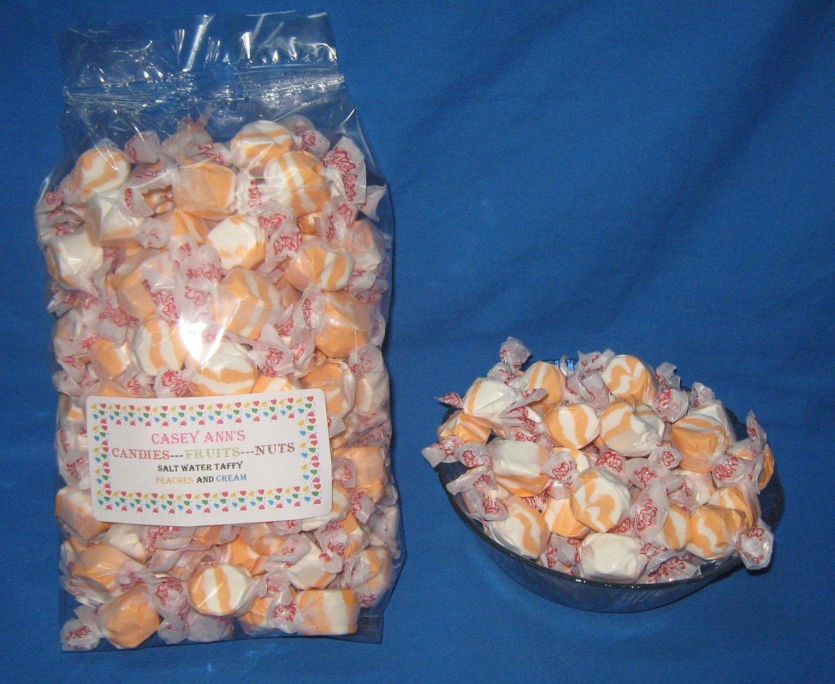 Peaches N Cream Flavored Taffy Town Salt Water Taffy 2 Pounds