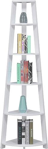 Convenience Concepts Newport 5-Tier Corner Bookcase