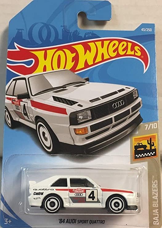 Amazon.com: Hot Wheels 2019 Baja Blazers 84 Audi Sport Quattro 43/250, White: Toys & Games