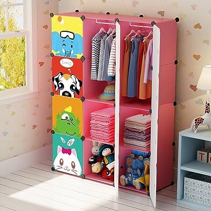 Amazon Com Kousi Portable Kid Wardrobe Child Dresser Hanging