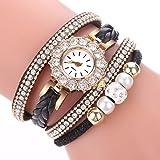 Paymenow Clearance Wrist Watches for Women Girls, 2018 New Luxury Rhinestone Pearl Analog Quartz Watch