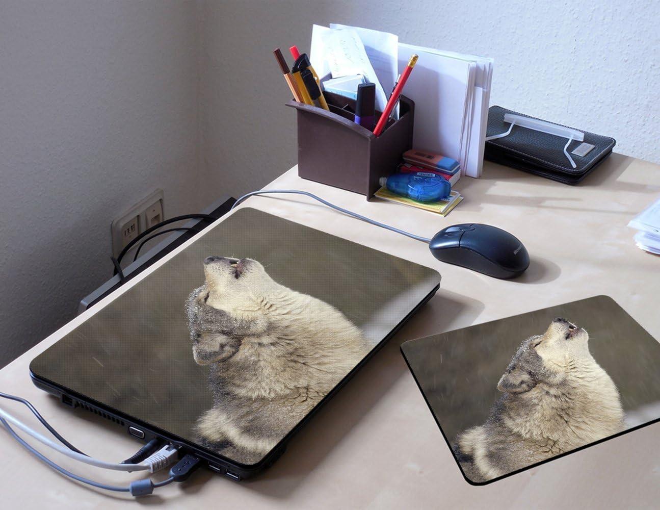 Virano Animaux 10015 Autocollant Vinyl Adh/ésif Dessin Color/é et Effet de Cuir pour Les Portable Tactile et Ordinateurs Portables pour Laptop 15.6 Loup