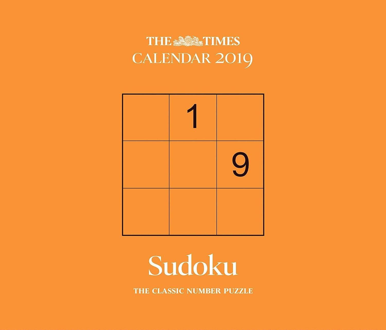 Sudoku ficial Day to Day Desk Calendar 2019 The Times
