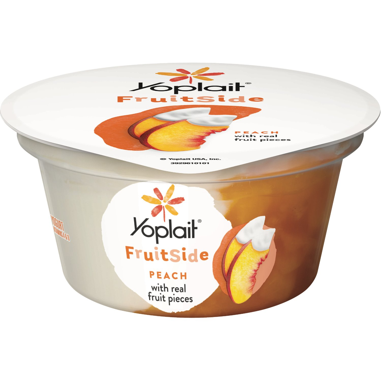Yoplait Fruit Side Yogurt, Gluten Free, Peach with Real Fruit Pieces, 5.3 oz
