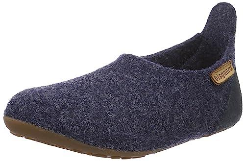 Bisgaard Hausschuhe-Wool Velcro, Mocasines Unisex Niños, Azul (26 Cobalt 26), 25 EU