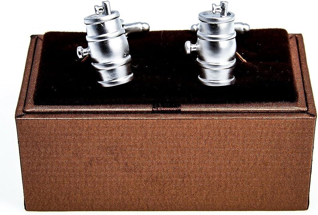 MRCUFF Keg Barrel Wine Whiskey Beer Pair Cufflinks in a Presentation Gift Box /& Polishing Cloth