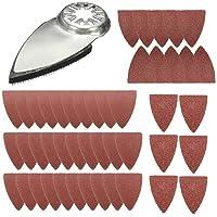 Modonghua 51 Stks Vinger Oscillerende Multi Tool Schuurpads Accessoires Kits, Compatibel voor Fein Multimaster, voor…