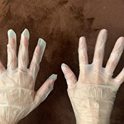 Amazon Co Jp カスタマーレビュー クレシア プロテクガード プラスチックグローブ Lサイズ 100枚 パウダーフリー 薄手 素肌感覚 病院や介護現場向け