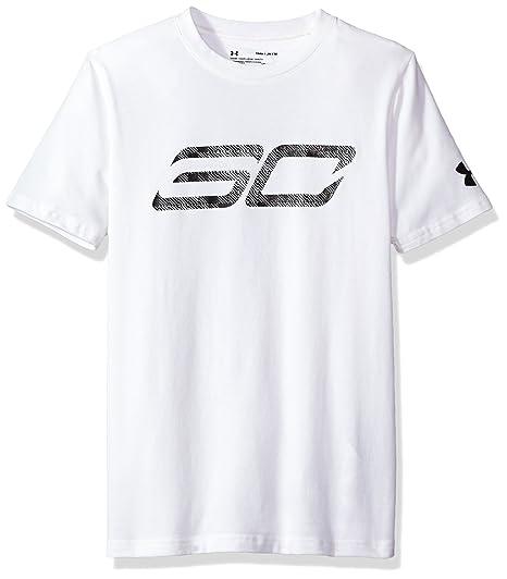 02bb3752c6d1 Amazon.com  Under Armour Boys  SC30 Logo Short Sleeve Tee  Clothing