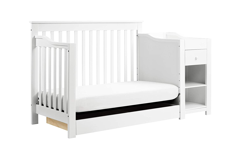 DaVinci Piedmont 4-in-1 Crib /& Changer Combo White