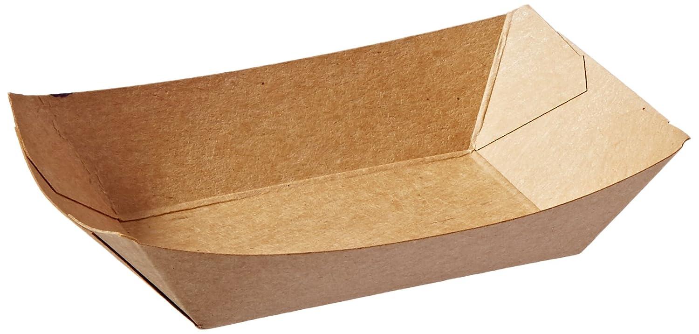 Bagcraft Papercon 300694 EcoCraft Grease Resistant Food Tray, 1/4-lb Capacity, 1-1/8