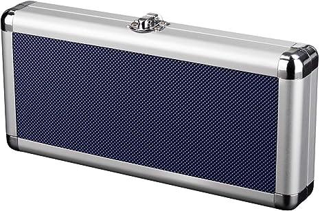 Zzapit estuche metálico de aluminio para transporte y almacenamiento - azul (Nintendo Switch): Amazon.es: Videojuegos