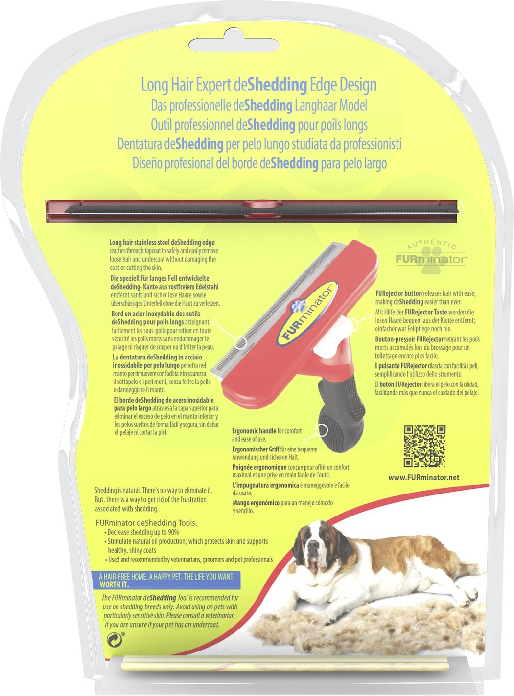 Furminator Herramienta de muda para Perros Gigantes de Pelo Largo XL: Amazon.es: Productos para mascotas