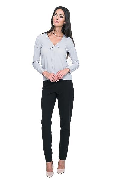 MOS Damas Camisa de Moda Top de la Blusa con Mangas Larga con la Unión Elegante