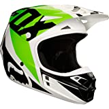 2018 Fox Racing V1 Race Helmet-White/Black-M