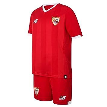 Conjunto jr Sevilla FC Away 2017-2018 Rojo Talla XLB: Amazon.es: Deportes y aire libre