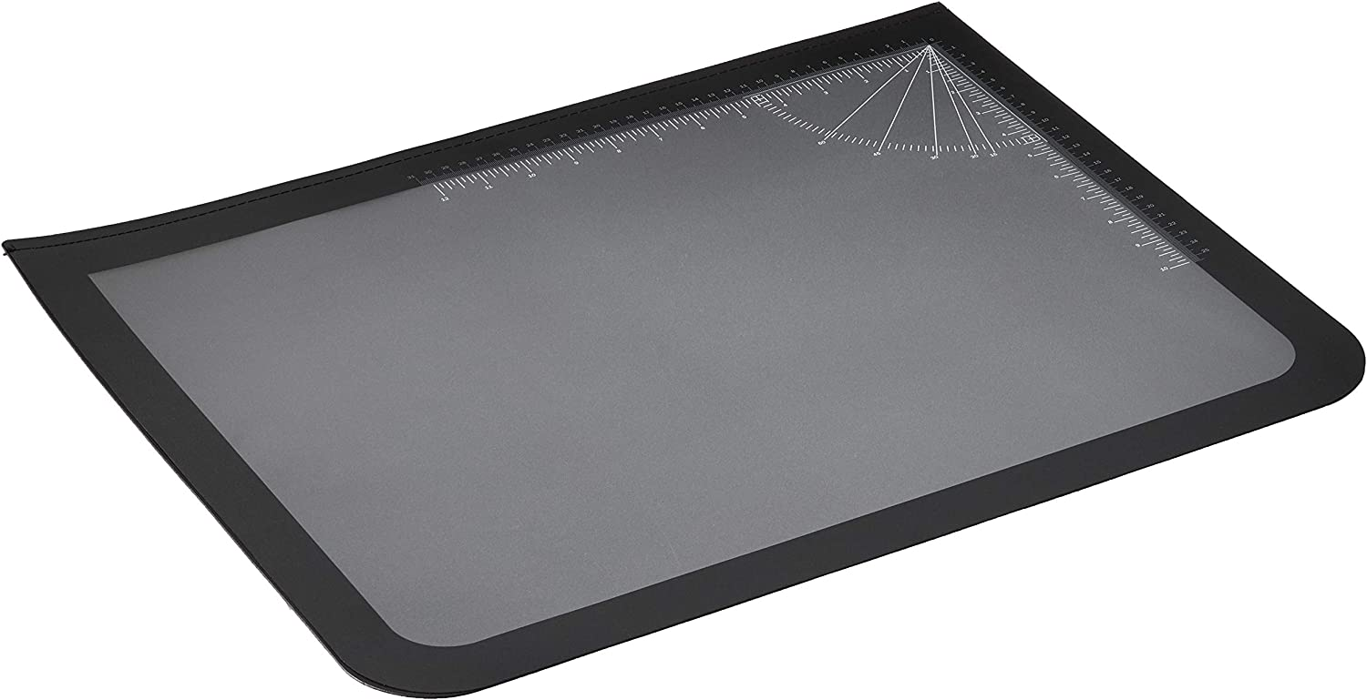 "Artistic Office Products 17"" x 22"" Logo Pad Lift-top Desktop Organizer Desk Mat, Black/Clear"