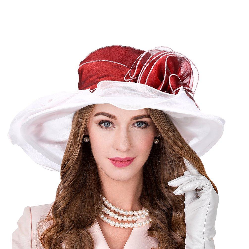 Vbiger Faltbar Sonnenhut Sommer Hut UV Schutz Elegant Damen Sonnenhut
